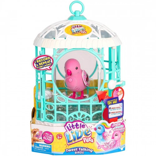 Little Live Pets Bird with Cage Ruby...
