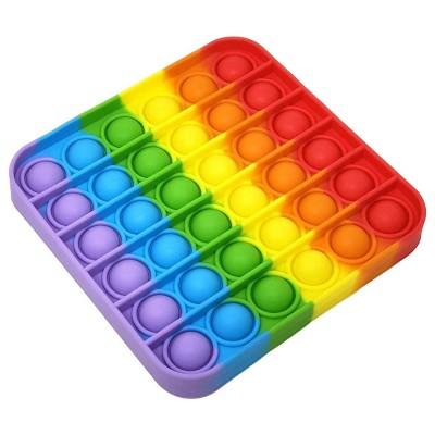 Fidget Pop It Square Rainbow