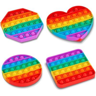 Fidget Pop It Rainbow Shapes