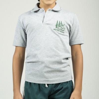 ABS Grey Short Sleeve Polo...