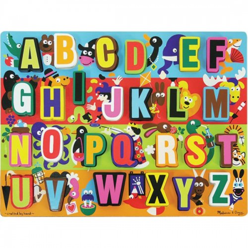 Melissa & Doug Jumbo ABC Wooden...
